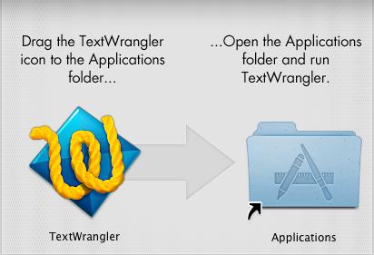TextWrangler install